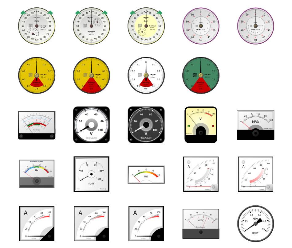 Compass/Radial/Circular/Clock/Car/Oval/VU Gauge